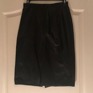 Vintage North Beach Leather Mid Length Skirt.